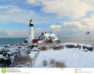 Water Light Lamp by Maine Lighthouse In Winter Stock Photo Image Of Breakers