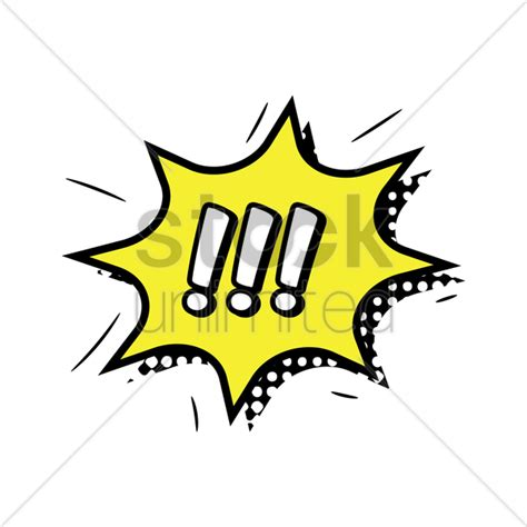 Comic Bubble With Exclamation Mark Vector Image