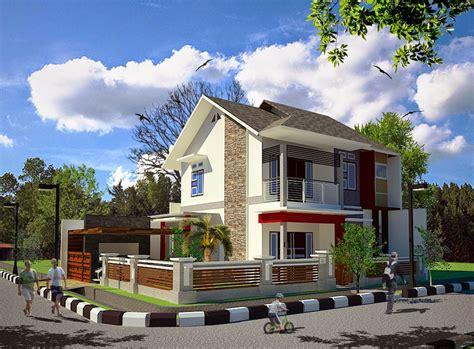 ide desain taman depan rumah pojokan arsitektur