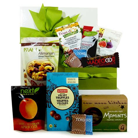 organic gift baskets gourmet gift baskets for food organic chocolate