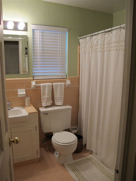 peachbrown bathroom tile home decorating design