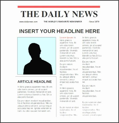 Sample Newspaper Front Page Template 6 Documents In Pdf Psd
