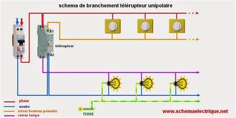 schema electrique telerupteur unipolaire schema