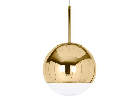 buy the tom dixon mirror pendant light gold at nest co uk