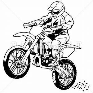 sports clipart image of a motocross rider on a dirt bike With bbr pit bike hondas