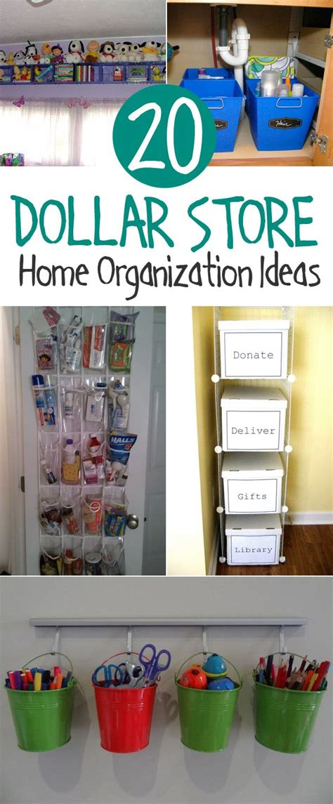 20 Clever Dollar Store Organization Ideas  Diy & Crafts