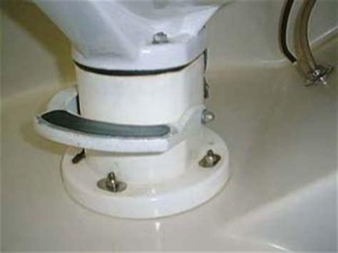 repairing  toilet seal vintage airstream