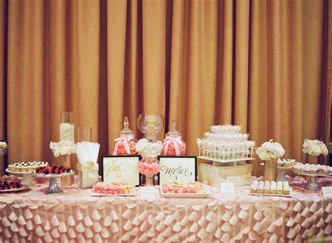 Pink Parisian Wedding Dessert Table