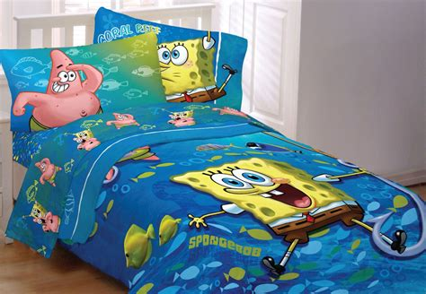 spongebob squarepants fish swirl full bedding set sponge