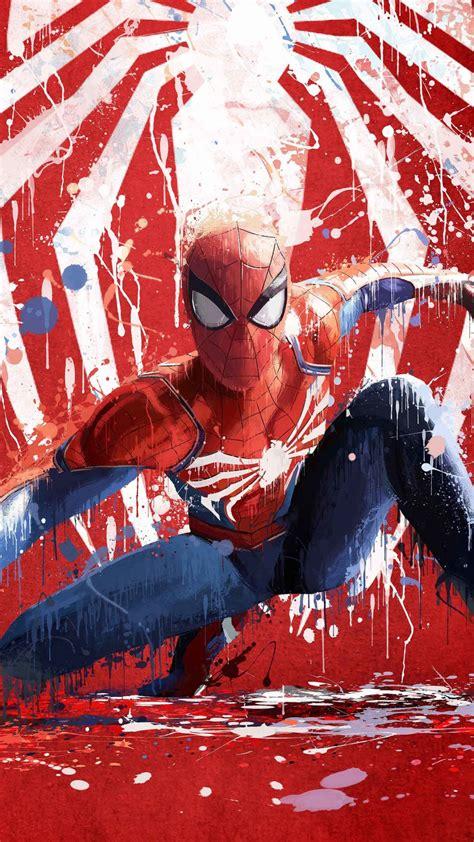 wallpaper spider man artwork ps red hd creative