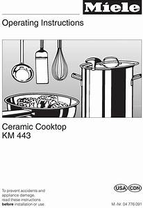 Miele Km 443 Operating Instructions Manual Pdf Download