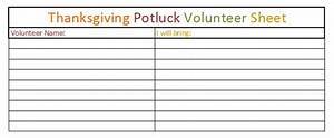 best photos of thanksgiving potluck sign up sheet With thanksgiving potluck signup sheet template