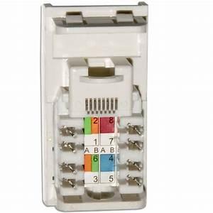 Data Cat5e Rj45 Wall Grid Outlet Module