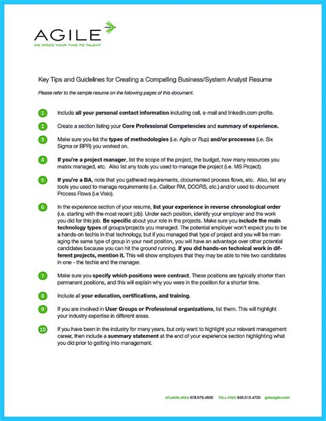 Business Analyst Summary Statement by Best Secrets About Creating Effective Business Systems