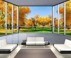 Papier Peint Trompe L4oeil : 17 meilleures images propos de papier peint 3d paysage ~ Premium-room.com Idées de Décoration