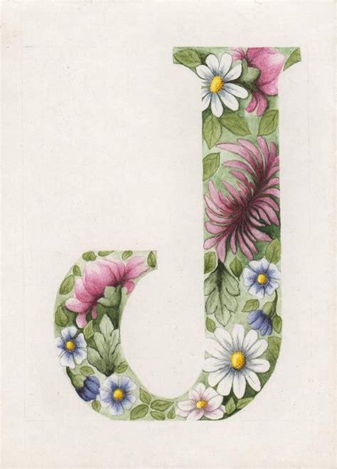 original floral letter