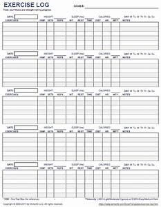 free printable exercise log and blank exercise log template With personal trainer workout template