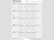 Free Printable Exercise Log And Blank Exercise Log