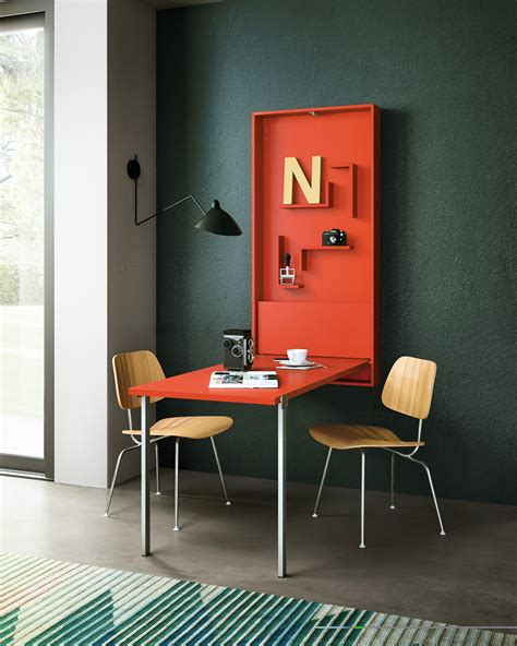 bureau rabattable mural table rabattable rectangulaire wally by clei