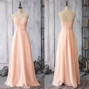 blush chiffon bridesmaid dresses 2015 chiffon bridesmaid dress blush pink wedding dress spaghetti dress