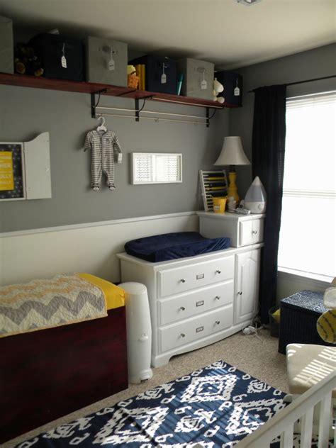 thrifty navy yellow grey nursery project nursery