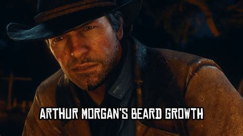 Red Dead Redemption 2  Arthur Morgan's Beard Growth Youtube