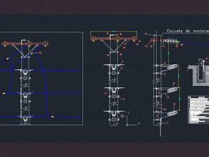 Detail Wiring In Medium Voltage Lines Dwg Detail For