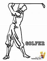 Coloring Pages Golf Golfer Printable Boys Colouring Classic Player Sports Yescoloring Fisted Sheet Onlinecoloringpages sketch template