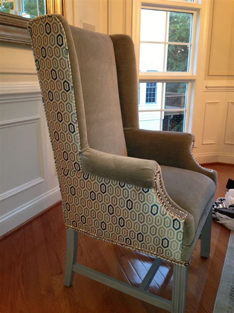 Upholstery Covering Chairs by Two Tone Wingback Chair Chairs In 2019 Chair