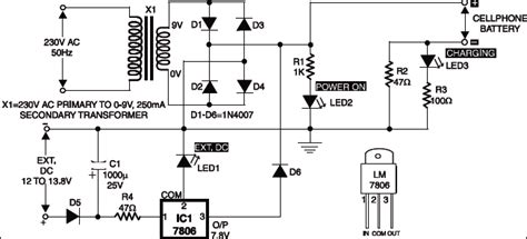 Mobile Phone Charger Circuit Detailed Project Available