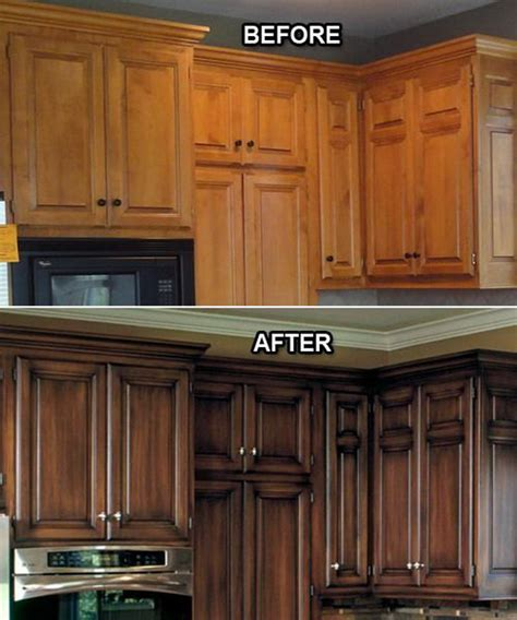 how to faux paint kitchen cabinets before and after 25 budget friendly kitchen makeover 8643