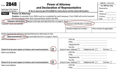 irs form 2848 power of attorney instructions form 2848 instructions for irs power of attorney