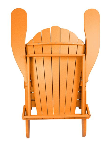 Outer Banks Polywood Folding Adirondack Chair by Outer Banks Poly Lumber Folding Adirondack Chair With