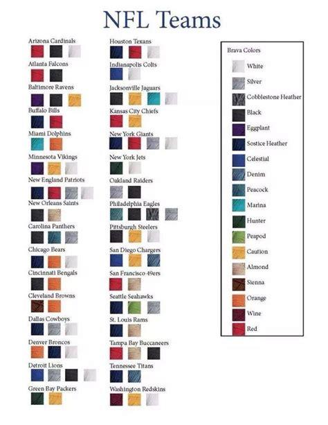 nfl teams yarn colors crochet patterns community board