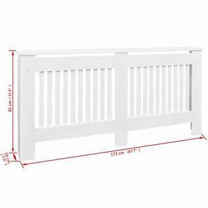Cache Radiateur Pas Cher : acheter vidaxl cache radiateur blanc mdf 172 cm pas cher ~ Premium-room.com Idées de Décoration