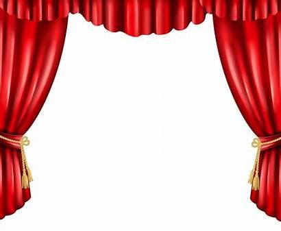 Curtain Curtains Transparent Theatre Clip Clipart Movie