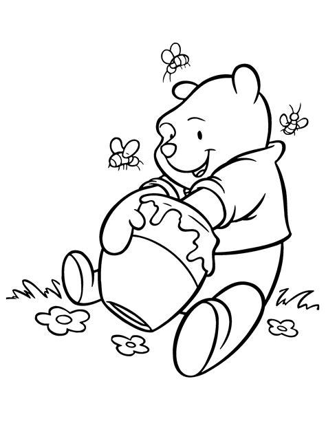 Winnie The Pooh Coloring Book Pages Miss Adewa
