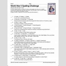 9 Worksheets That Will Teach Your Child About World War Ii  Spelling Worksheets, Worksheets And