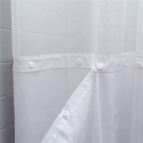 sheer shower curtain white 100 polyester 71 quot x 74 quot white ringless shower curtain with 12 quot sheer voile window and removable