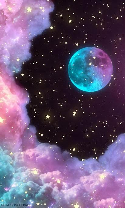 Space Gifs Stars Heart