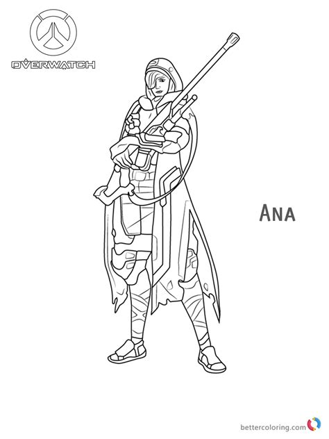 ana  overwatch coloring pages  printable
