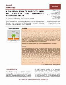 Pdf  A Simulation Study Of Single Cell Inside An