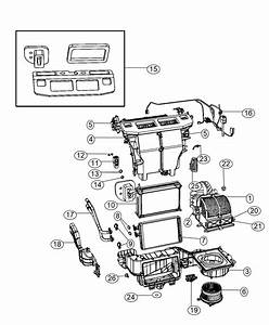 2014 Dodge Grand Caravan Core  Heater  Temp  Zone  Panel