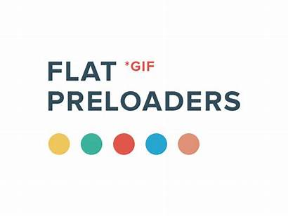 Flat Preloaders Freebie Animated Progress Dribbble Preloader