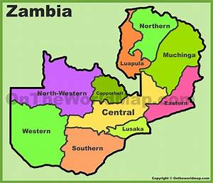 zambia map, political map of zambia ( px with) nations ...