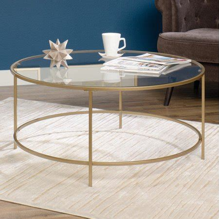 Shop over 340 top round glass coffee table and earn cash back all in one place. Sauder International Lux Round Coffee Table, Satin Gold ...