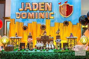 Jaden's Clash of Clans Themed Party -1st Birthday - Party ...