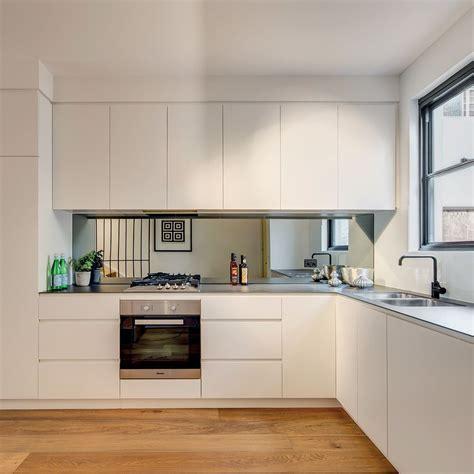 Glass Cupboards For Kitchens by 6mm Porcelain Benchtop Mirror Splashback Black Tapeware