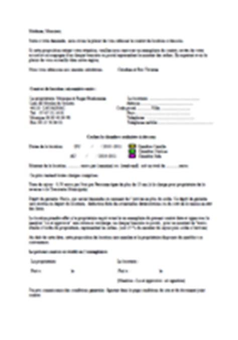 conditions et contrat de location des chambres d 39 hôtes de