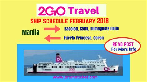2go Boat Schedule by 2go Promo 2017 To 2018 Promo Fare Schedules And Other